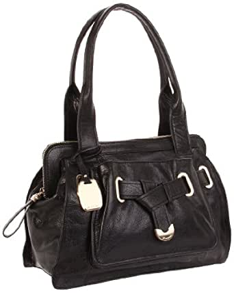 B. MAKOWSKY Annette Shoulder Bag,Black,One Size