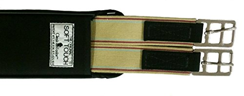 Classic Equine Soft Touch Straight Jump Girth Black 56'' by Classic Equine