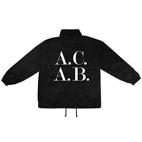 ACAB Symbol Motiv auf Windbreaker, Jacke, Regenjacke, Übergangsjacke, stylisches Modeaccessoire für HERREN, viele Sprüche und Designs