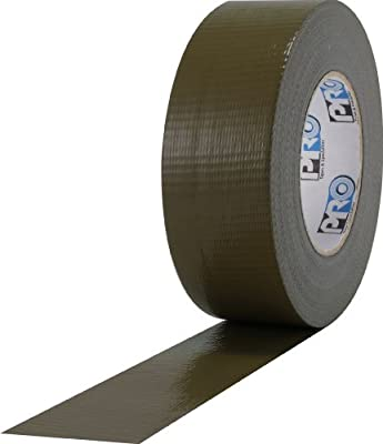 "ProTapes Pro Duct 110 PE-Coated Cloth General Purpose Duct Tape, 60 yds Length x 2"" Width, Olive Drab (Pack of 1)"