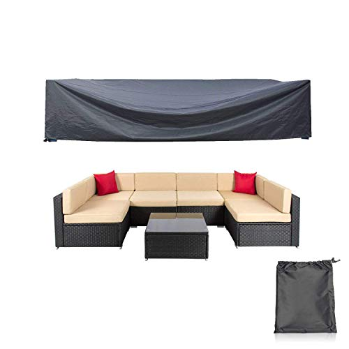 Mr.You Patio Cover,Patio Furniture Set Covers Waterproof Outdoor Furniture Lounge Porch Sofa Waterproof Dust Proof Protective
