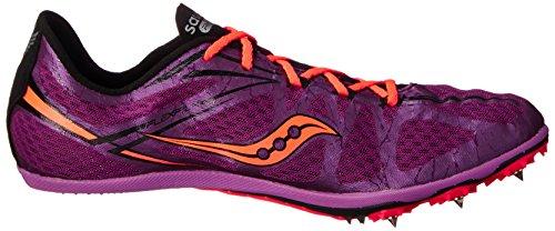 Saucony Womens ballista Spike Shoe, Purple/Vizi Coral, 7.5 M US