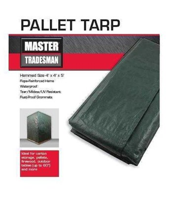 (Master Tradesman KAPS Tex KT-PC544GB Green/Brown Pallet Tarp Cover, 5 x 4 x 4-Ft. - Quantity 10)