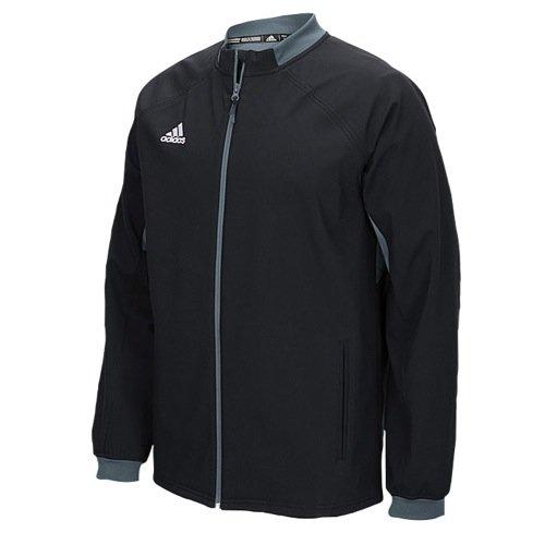 adidas Mens Climawarm Fielders Choice Full-Zip Warm Jacket Black/Grey Xs