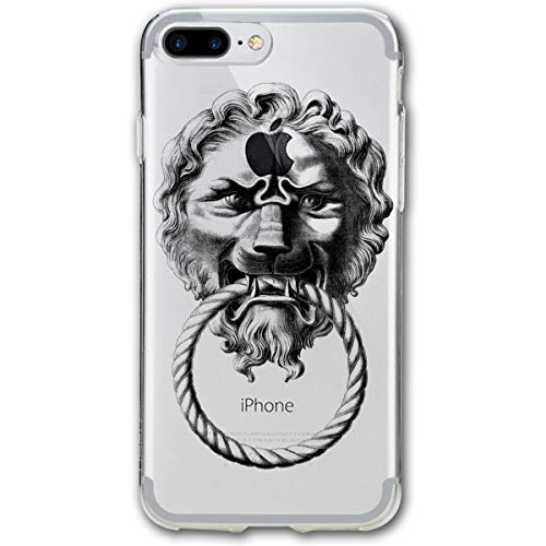 TPSXXY-8 Retro Lion Door Knocker Phone Shell Shock Absorption Bumper Case Enhanced Grip Protective Defender Cover for iPhone 7/8 Plus