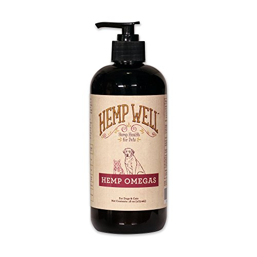 Hemp Well Hemp Omegas Oil for Dogs and Cats | Helps Hip and Joint Health + Immune Support and Heart Health | Maintains Skin and Coat | Balanced Ratio of Omega Fatty Acids Supply [16 Ounces]