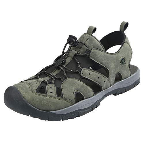 (Northside Men's Burke II Athletic Sandal, Dk Olive, 9 M US)
