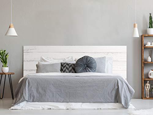 Cabecero Cama Pegasus Impresion Digital Imitacion Madera | Color Blanco | 200 x 60 cm | Disponible en Varias Medidas | Cabecero Ligero, Elegante, Resistente y Economico