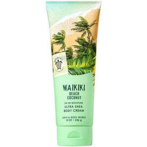 Bath and Body Works WAIKIKI - BEACH COCONUT Ultra Shea Body Cream 8 Ounce (2019 Edition)