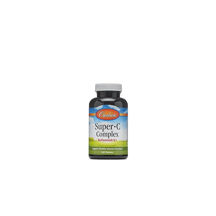 Carlson Labs Super C Complex, Bioflavonoids and C, 100 Tablets
