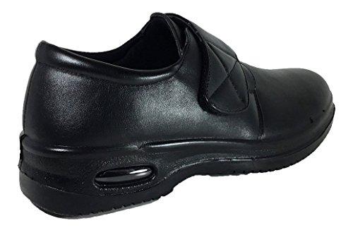 Calzado De Trabajo Brix Resistente Al Aceite Para Hombres Antideslizante Para Restaurantes Con Aire (acco) Velcro
