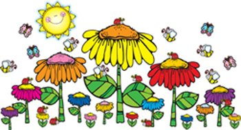 - Flower Garden Bulletin Board Cut Out