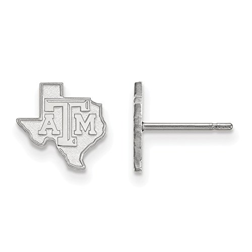 Texas A&M Extra Small (3/8 Inch) Post Earrings (Sterling Silver)