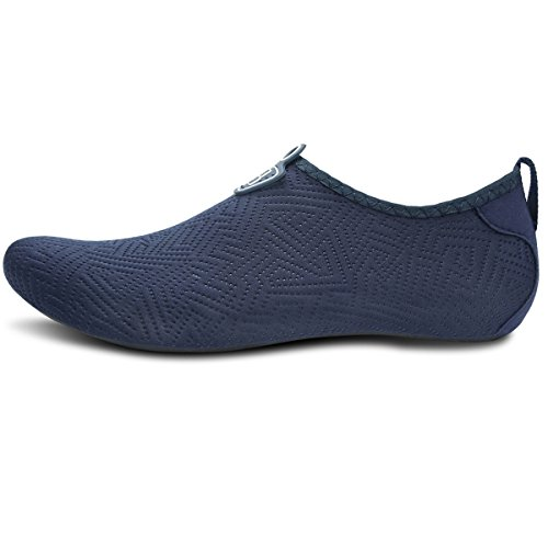 Aqua for Barerun Pool Swim Yoga Sports Shoes Men for Water Surf Beach Barefoot Dark Women Socks Quick Blue Dry 8PwrY8q