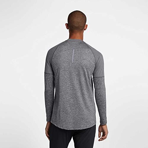 a Nike Crew uomo Elmnt Grigio lunghe scuro da shirt Nk maniche M htr T f5HTZqwn