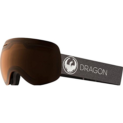 Dragon Alliance X1 Ski Goggles, Black, Large, Echo/Transition Amber Lens by Dragon Alliance