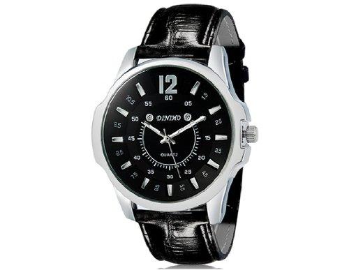 DINIHO reloj de cuarzo Ronda 1105 Hombre analógico con correa de cuero de imitación M.: Amazon.es: Relojes