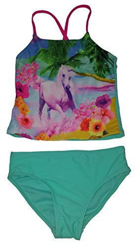 Girls Beach Runner Aqua Mint 2 Piece Tankini - X-Small