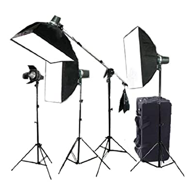 CowboyStudio Photo Studio Four Strobe Flash Lighting Kit with Carrying Case - 4 STUDIO FLASH/STROBE from CowboyStudio