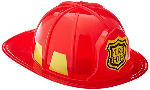 Leg Avenue Fireman's Hat Costume Accessory, Red, One