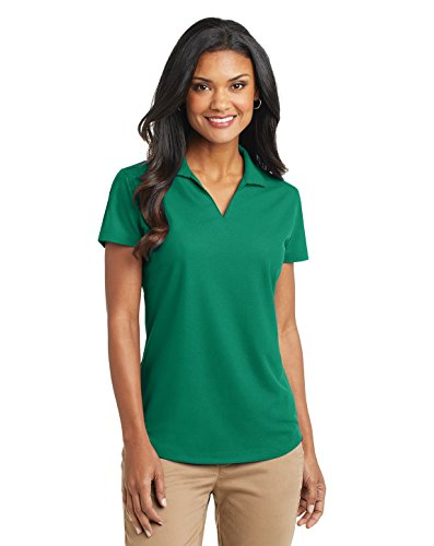 Port Authority Ladies Dry Zone Grid Polo, Jewel Green, Medium (Green Womens Polos)