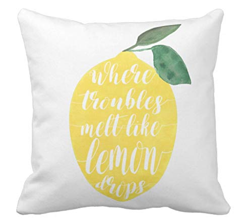 Where Troubles Melt Like Lemon Drops Throw Pillow Case Cushion Cover
