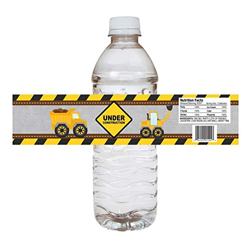Used, Under Construction Water Bottle Labels - Kids Dump for sale  Delivered anywhere in USA
