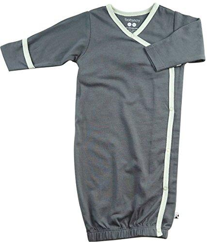 - Babysoy Eco Essential Kimono Bundler - Long Sleeve Baby Sleeper Gown (0-3 Months, Tornado)