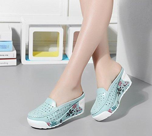 Compensées Hellblau Femme 2 Solshine Chaussures 5qUnR