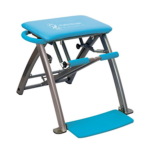 Life's A Beach Blue Pilates Pro Chair and DVDs