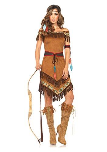 [Leg Avenue Women's 4 Piece Native Princess Costume, Brown, X-Large] (Pocahontas Costumes)