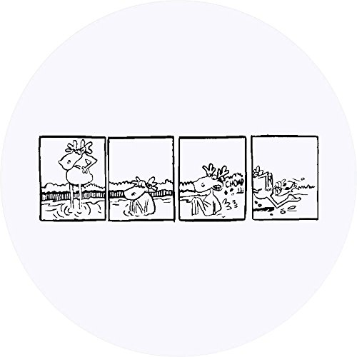 24 x 40mm Round 'Moose Comic' Stickers (SK00002801)