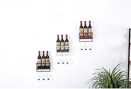 Portavasos de Vino Tinto Estante de Vino Soporte de Copa de Vino Estante de Vino Colgante de Vino Tinto Titular de Copa de Vino Boca Abajo Creativo - L50CM * M10CM * H17CM Bronce