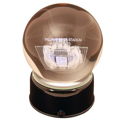 - NCAA South Carolina Gamecocks Williams Bryce Stadium Etched Lit Musical Turning Crystal Ball