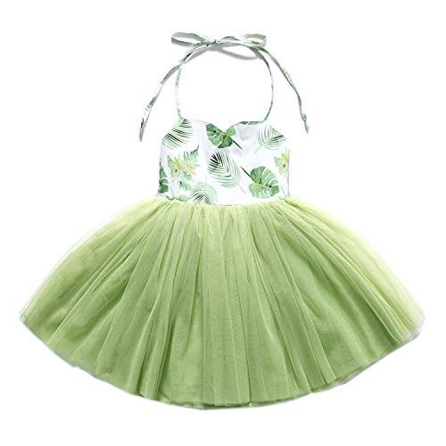 Flofallzique Special Occasion Girls Dress Pink Tutu Wedding Christening Birthday Baby Toddler Clothes (0, Vintage Green) ()
