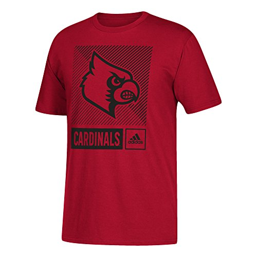 T-shirt Red Football Cardinals (NCAA Louisville Cardinals Mens Lined Box Go-to S/Teelined Box Go-to S/Tee, Power Red, X-Large)