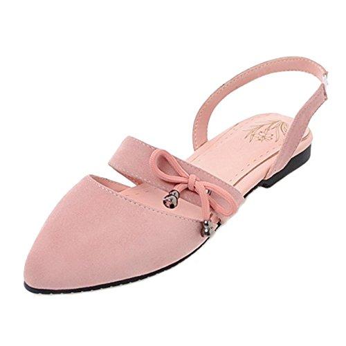 y rosa punta planos punta grande en mujeres con con informales Sandalias con SJJH para pisos qgzWxOZZXw