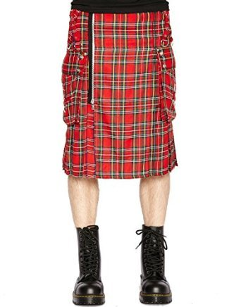Woven Kilt (Tripp Men's Woven Goth Irish Scottish Plaid Kilt (30-32 Small))