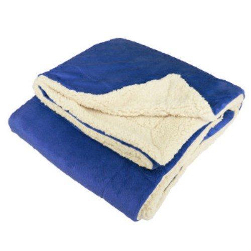 Royal Mink Blanket (Micro Mink Sherpa Throw Blanket (Royal Blue))