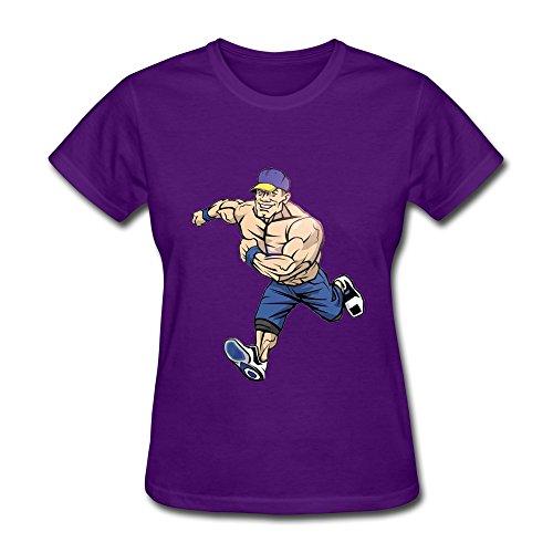 Wei-JR WWE Girl John Cena Tees Size M Purple