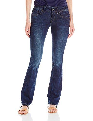 G-STAR RAW Women's Midge Saddle Mid Bootleg Wmn Jeans Blue - Blau (Dk Aged 89)