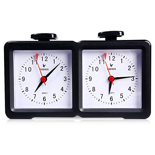 Robolife Chess Clock,Professional LEAP PQ9905 Quarz Analog Chess Clock I-go Count Up Down - Clock Chess