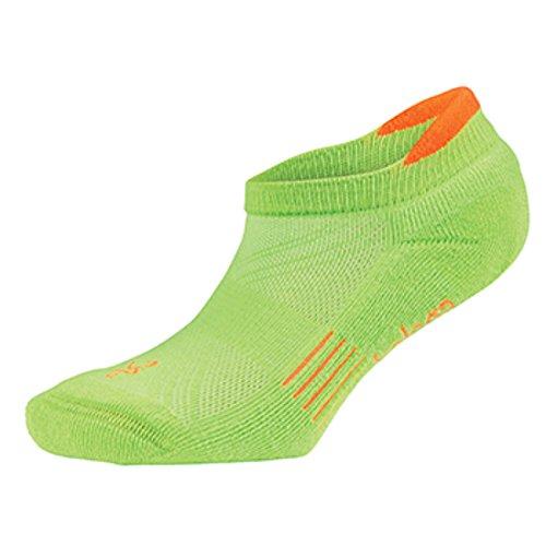 Balega Kids Hidden Cool Socks (1 Pair), Lime Green/Neon Orange, X-Large
