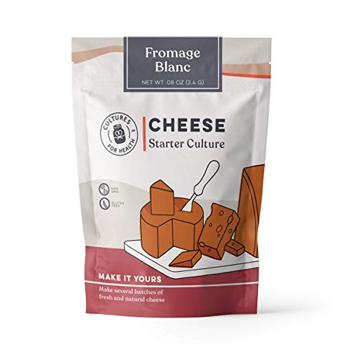 Fromage Blanc Cheese Starter Culture | Cultures for Health | Creamy, spreadable, mild, probiotic cheese | No maintenance, - Fromage Blanc
