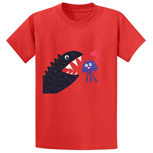 impossible-love-child-crew-neck-short-sleeve-tees-red