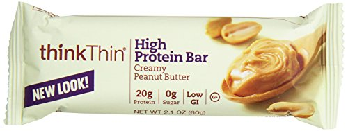 (ThinkthinHigh Protein, Creamy Peanut Butter, 2.1 Ounce (Pack of 10))