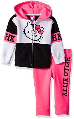 Set Infant Fleece - Hello Kitty Baby Girls' 2 Piece Hooded Fleece Active Set, Knockout Pink 18 Months
