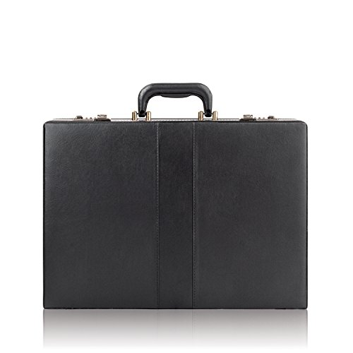 Solo Grand Central Attaché, Hard-sided with Combination Locks, Black (Briefcase Vinyl Womens)