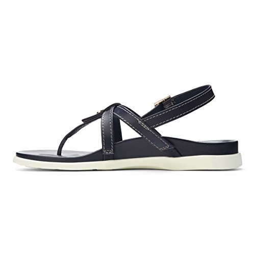 Palm Womens Navy Leather Sandals Veranda Vionic qvSwxx