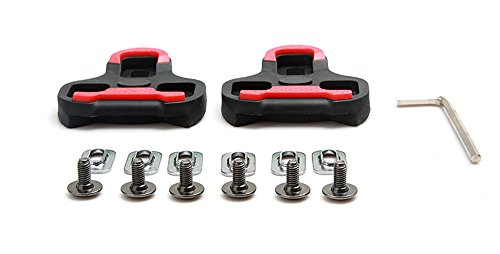 Bike Cleats Compatible with Look Delta Cycling Road Bike Bicycle Cleat Set (Delta Road Cleat)